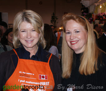 Martha Stewart and Eileen Koteras Elibol