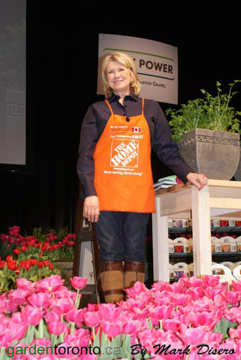 Iconic picture of Martha Stewart on the Grey Power Stage