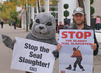 Peppy PETA Protesters