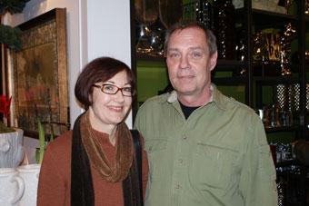 Yvonne and Paul at Marjorie Harris' book launch