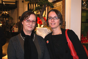 Gayla Trail and Brenda McCrank at Marjorie Harris' book launch