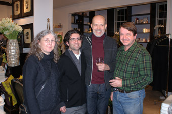 Uli, Paul, Barry, and Dugald at Marjorie Harris' book launch