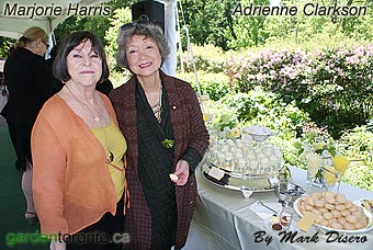Marjorie Harris and Adrienne Clarkson